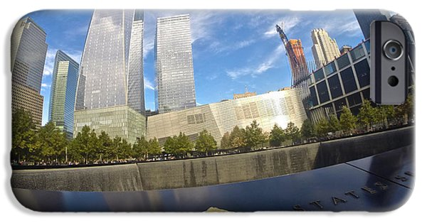 River View iPhone Cases - Memorial Reflections iPhone Case by Steven Lapkin