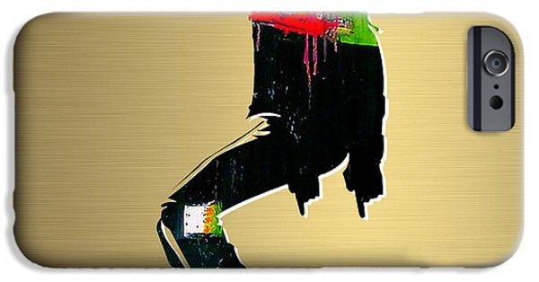 Michael Mixed Media iPhone Cases - Michael Jackson Gold Series iPhone Case by Marvin Blaine
