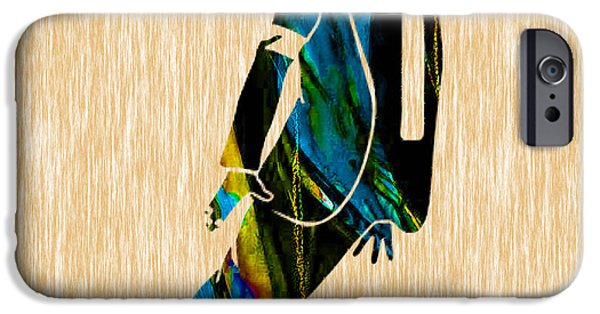Michael Mixed Media iPhone Cases - Michael Jackson Painting iPhone Case by Marvin Blaine