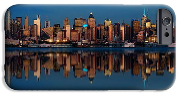 Empire State iPhone Cases - Midtown Manhattan skyline iPhone Case by Songquan Deng