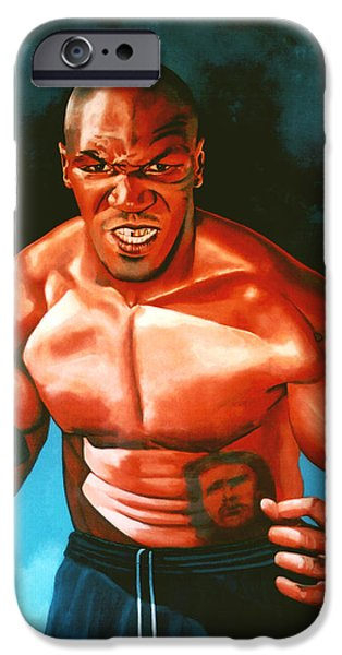 Kids Sports Art iPhone Cases - Mike Tyson iPhone Case by Paul  Meijering