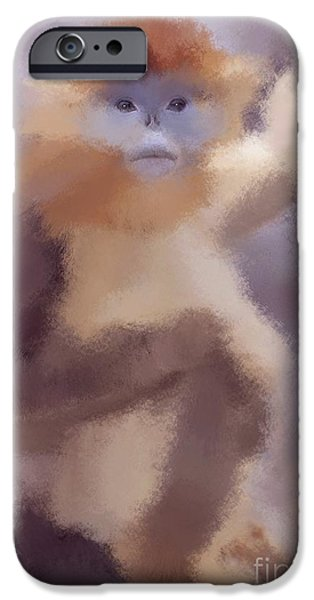 Monkey Business iPhone Case by Karen Larter