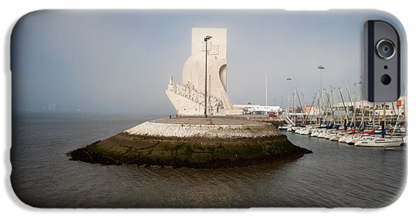 Historic Site iPhone Cases - Monument to the Discoveries in Lisbon iPhone Case by Artur Bogacki