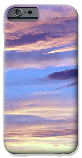 Moody Paintings iPhone Cases - Moody Blue iPhone Case by Ellen Henneke