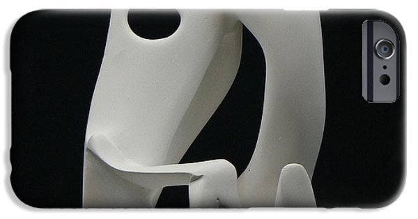Couple Sculptures iPhone Cases - More than dancing iPhone Case by Yusimy Lara