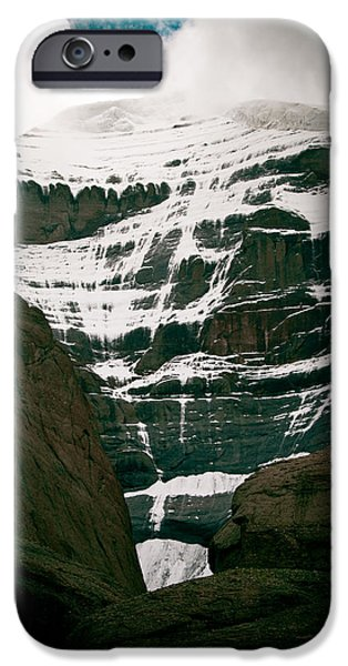 Tibetan Buddhism iPhone Cases - Mount Kailash western slope Home of the Lord Shiva iPhone Case by Raimond Klavins