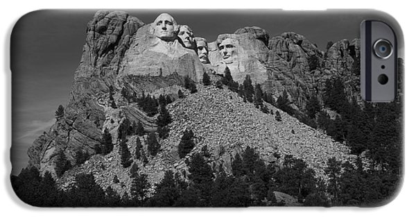 Abe iPhone Cases - Mount Rushmore iPhone Case by Frank Romeo