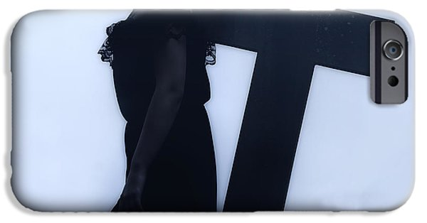 Burying Ground iPhone Cases - Mourning iPhone Case by Joana Kruse