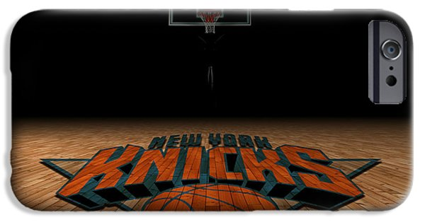 Division iPhone Cases - New York Knicks iPhone Case by Joe Hamilton