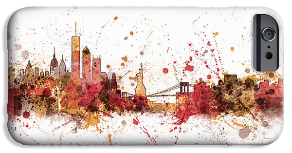 States iPhone Cases - New York Skyline iPhone Case by Michael Tompsett