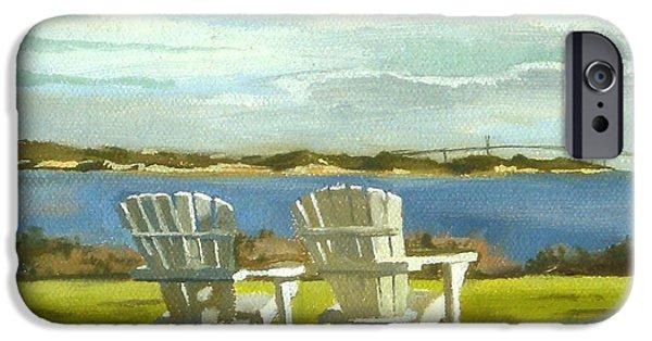 Sand Castles iPhone Cases - Newport Bridge Newport Rhode Island iPhone Case by Christine Hopkins