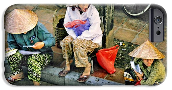 Matting iPhone Cases - 3 Non la in Hoi An-Vietman iPhone Case by Jennie Breeze