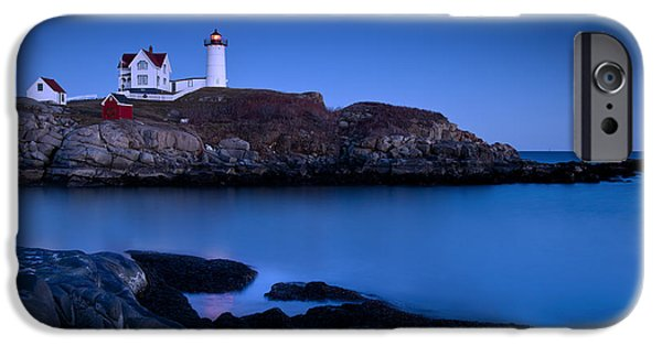 Ocean iPhone Cases - Nubble Lighthouse iPhone Case by Brian Jannsen