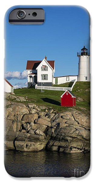 Recently Sold -  - New England Lighthouse iPhone Cases - Nubble Lighthouse iPhone Case by John Greim