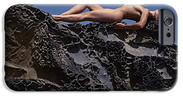 Urban Nature Study Photographs iPhone Cases - Nude On Rock iPhone Case by Scott Shaver