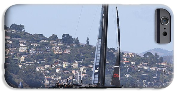 Oracle iPhone Cases - Oracle Americas Cup Winner iPhone Case by Steven Lapkin