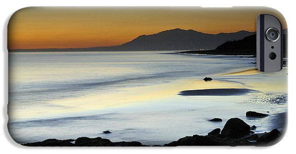 Sea iPhone Cases - Orange sunset iPhone Case by Guido Montanes Castillo