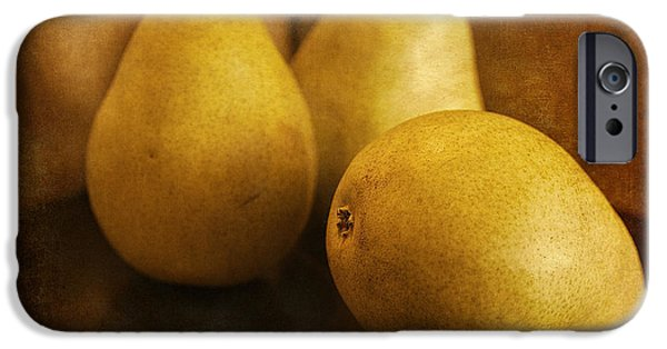 Biological Digital Art iPhone Cases - Pears iPhone Case by Maria Angelica Maira