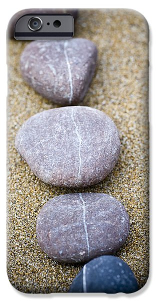 Contemplative Photographs iPhone Cases - Pebbles iPhone Case by Frank Tschakert