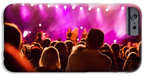 Applaud iPhone Cases - People on music concert iPhone Case by Michal Bednarek