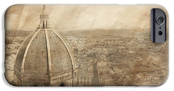 The Duomo iPhone Cases - Piazza Del Duomo With Basilica Of Saint iPhone Case by Evgeny Kuklev