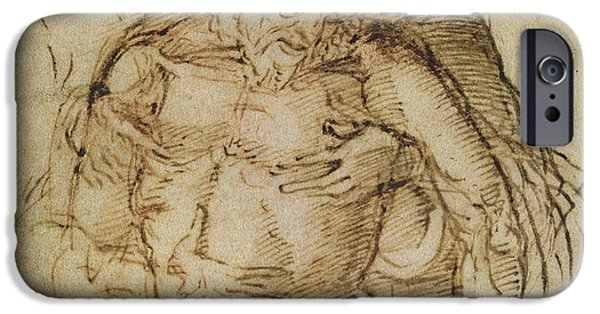 Preparatory Study iPhone Cases - Pieta iPhone Case by Italian School