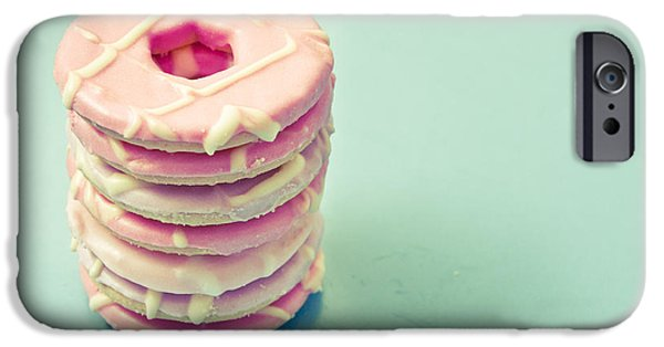 Diagonal iPhone Cases - Pink cookies iPhone Case by Tom Gowanlock