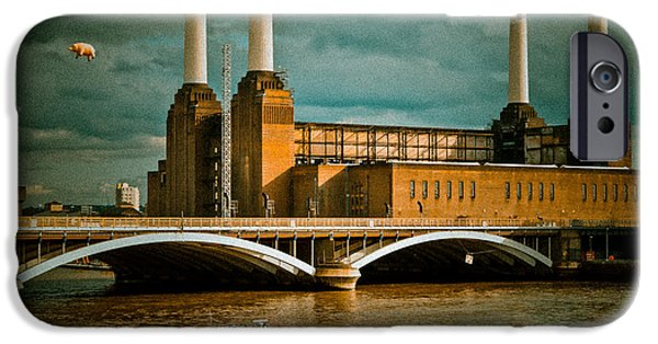 Recently Sold -  - River iPhone Cases - Pink Floyd Pig at Battersea iPhone Case by Dawn OConnor