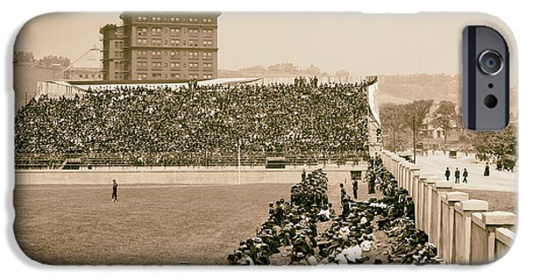 Pittsburgh Pirates iPhone Cases - Pittsburghs Forbes Field 1910s iPhone Case by Mountain Dreams