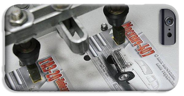 Circuit iPhone Cases - Plastic Smart Card Testing iPhone Case by RIA Novosti