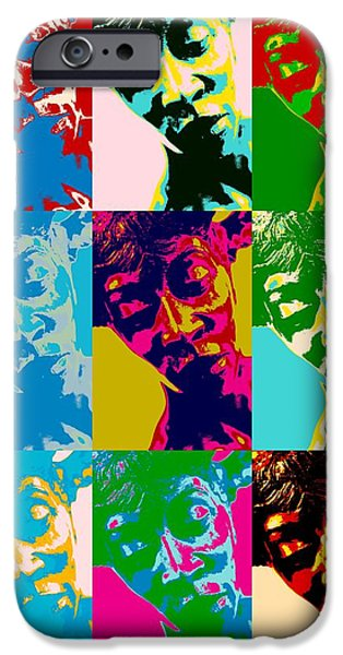 Concept Mixed Media iPhone Cases - Pop Art statue iPhone Case by Toppart Sweden