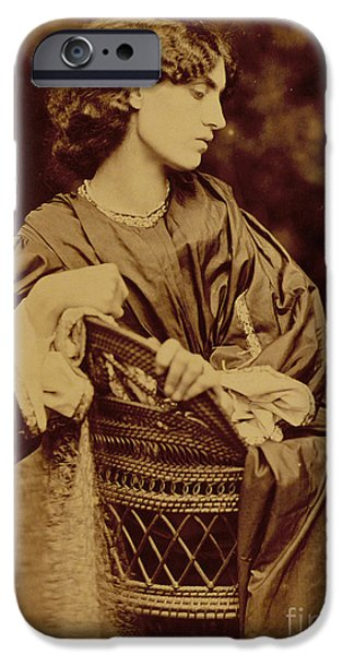 Woman In A Dress iPhone Cases - Portrait of Jane Morris iPhone Case by John Parsons