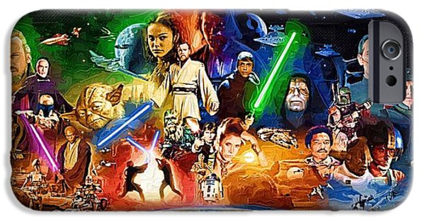 Republic Digital Art iPhone Cases - Poster Star Wars iPhone Case by Victor Gladkiy