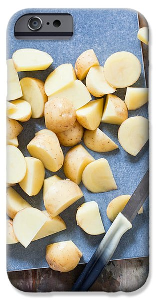 Board iPhone Cases - Potatoes iPhone Case by Tom Gowanlock