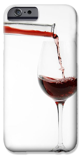 pouring red wine into glass iPhone Case by Patricia Hofmeester
