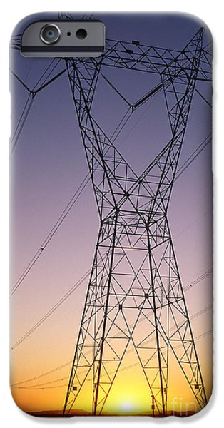 Electrical iPhone Cases - Power Lines iPhone Case by Jim Corwin