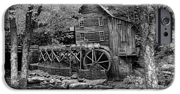 Grist Mill iPhone Cases - Power Station In A Forest, Glade Creek iPhone Case by Panoramic Images