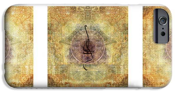 Buddhist iPhone Cases - Prayer Flag Triptych  iPhone Case by Carol Leigh
