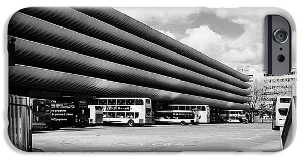 Brutalist iPhone Cases - Preston bus station England UK iPhone Case by Joe Fox