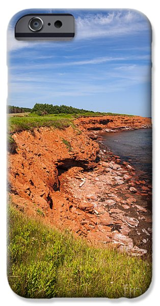 Prince iPhone Cases - Prince Edward Island coastline iPhone Case by Elena Elisseeva