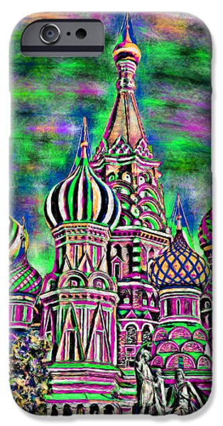 Kaleidoscopic Paintings iPhone Cases - Rainbow Temple iPhone Case by Bruce Nutting