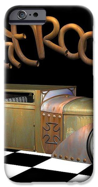 Rat Rod Sedan iPhone Case by Stuart Swartz