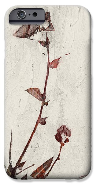 Red Leaf Digital Art iPhone Cases - Red flowers iPhone Case by Aged Pixel