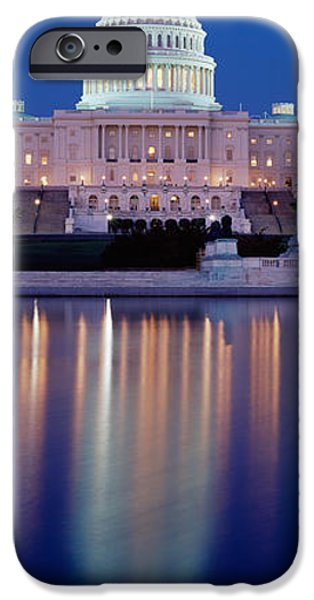 Senate iPhone Cases - Reflection Of A Government Building iPhone Case by Panoramic Images