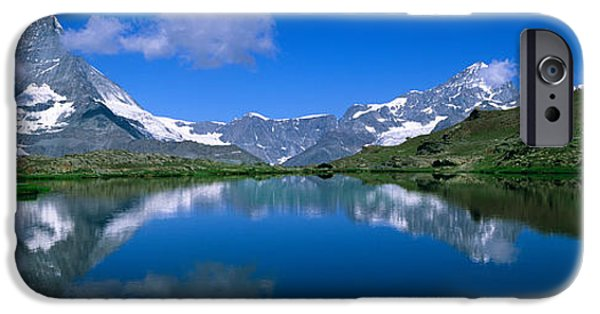 Generic iPhone Cases - Reflection Of Mountains In Water iPhone Case by Panoramic Images