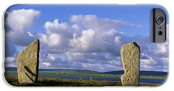Megalith iPhone Cases - Ring Of Brodgar, Orkney Islands iPhone Case by Panoramic Images