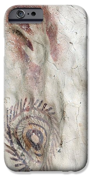 Overhang iPhone Cases - Rock Painting Timor-leste iPhone Case by Louise Murray