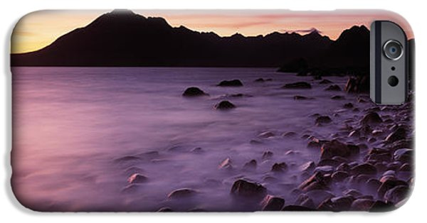 Red Rock iPhone Cases - Rocks On The Beach, Elgol Beach, Elgol iPhone Case by Panoramic Images
