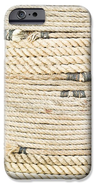 Connection iPhone Cases - Rope iPhone Case by Tom Gowanlock
