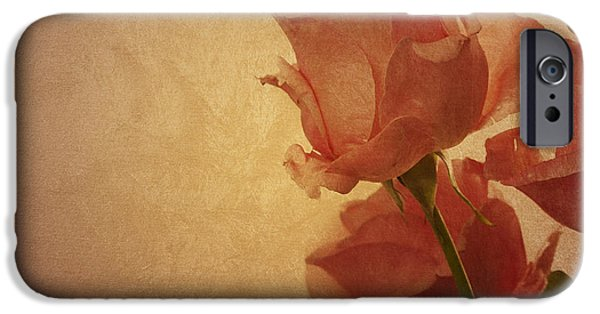 Fine Abstract Pyrography iPhone Cases - Roses iPhone Case by Jelena Jovanovic